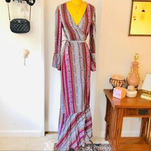 Bohemian Multi Print Maxi Dress